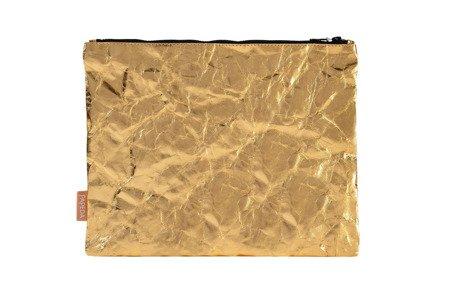 Etui / Kosmetyczka złota  L