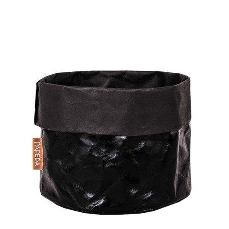 Osłonka na doniczkę kolor czarny XXL(OP 1529)średnica 32x 35/41*cm h