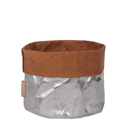 Osłonka na doniczkę kolor srebrny 12 cm / 14 cm