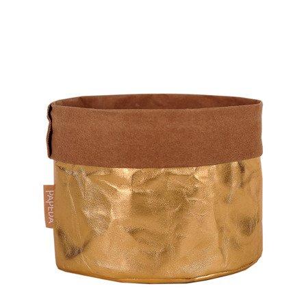 Osłonka na doniczkę kolor złoty L (OP 1505) średnica 19 cm x 17/24*cm h
